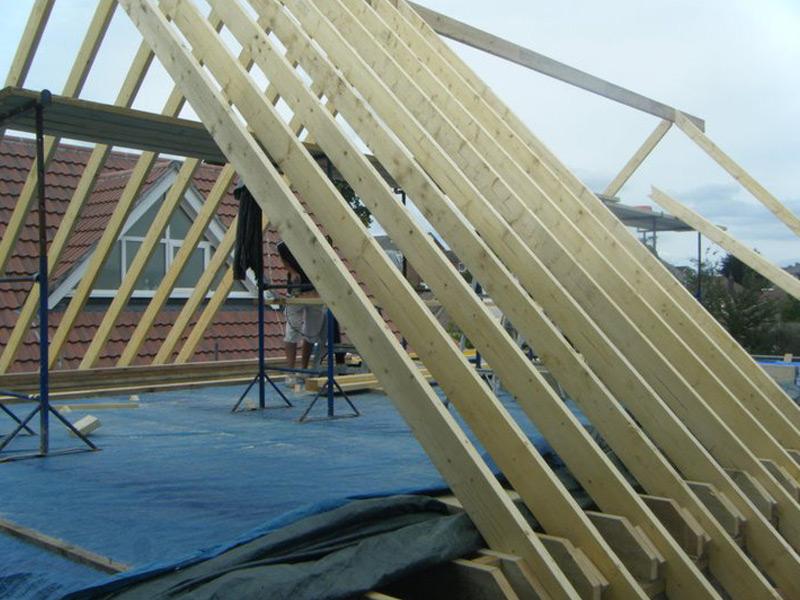 Carpentry cut roof